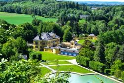 Blick auf Schloss Hellbrunn