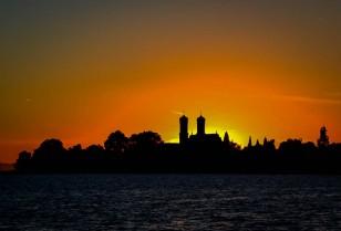 Sonnenuntergang bei Friedrichshafen