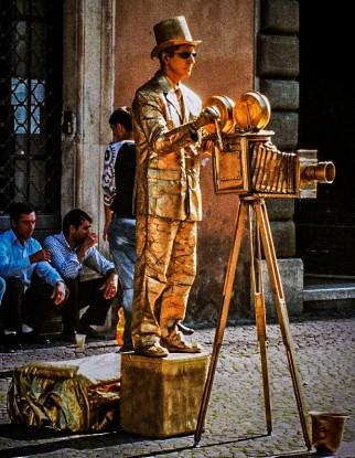 Einer der unzähligen Straßenkünstler rund d.Piazza Navona