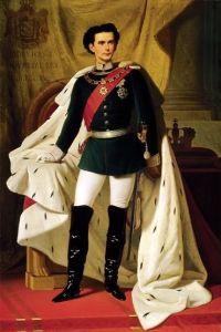De_20_jarige_Ludwig_II_in_kroningsmantel_door_Ferdinand_von_Piloty_1865