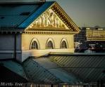 Die Giebelfront der Bayerischen Staatsoper