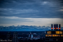 Dank Föhn waren die Alpen heute zum Greifen nah.