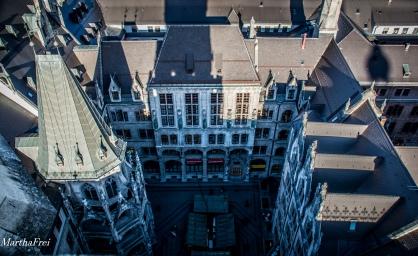 Der Innenhof des Münchner Rathauses